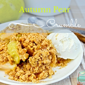 Autumn Pear Crumble