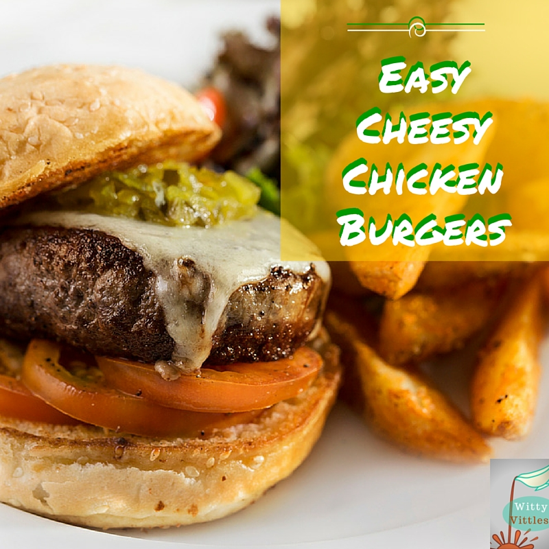 Easy Cheesy Chicken Burger Recipe