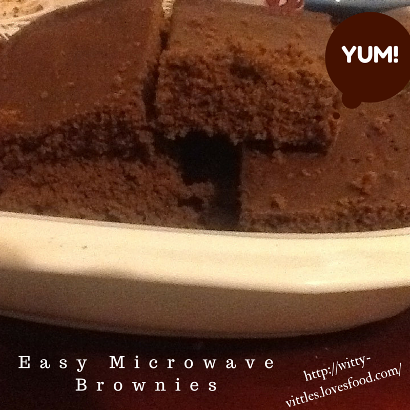 Amazing Microwave Brownies!