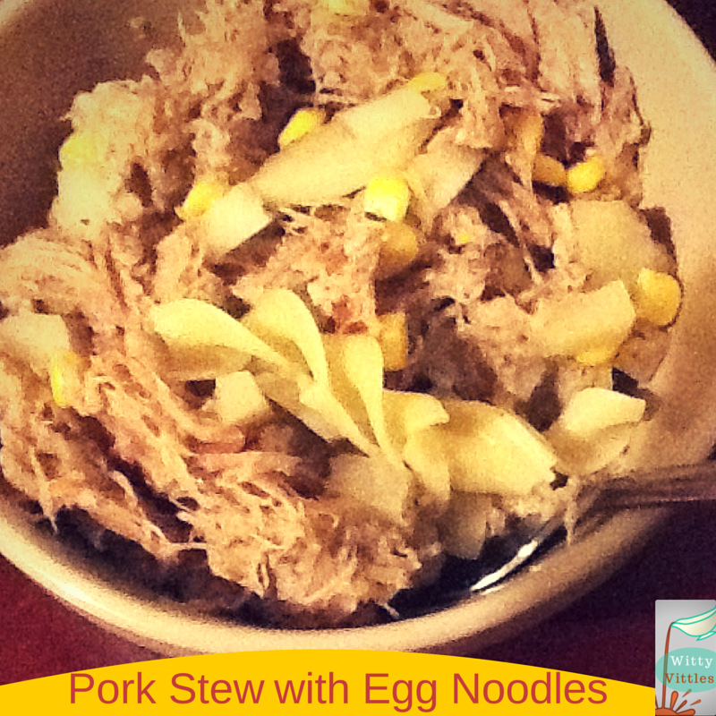 Hearty Pork Stew with Egg Noodles