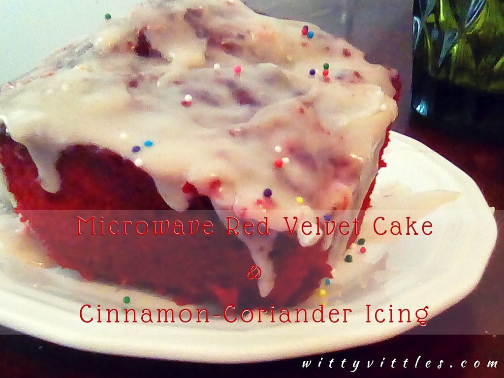 Red Velvet Cake & Cinnamon-Coriander Icing