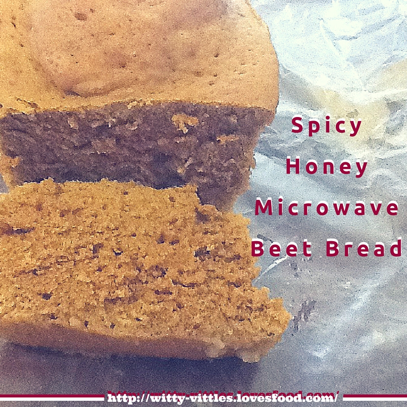 Spicy Honey Microwave Beet Bread
