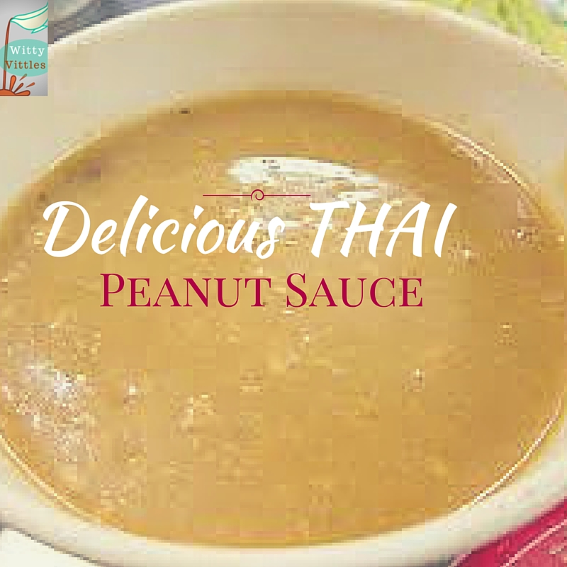 Delicious Thai Peanut Sauce